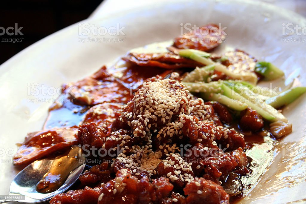 Chinese Chicken Dish royalty-free stock photo