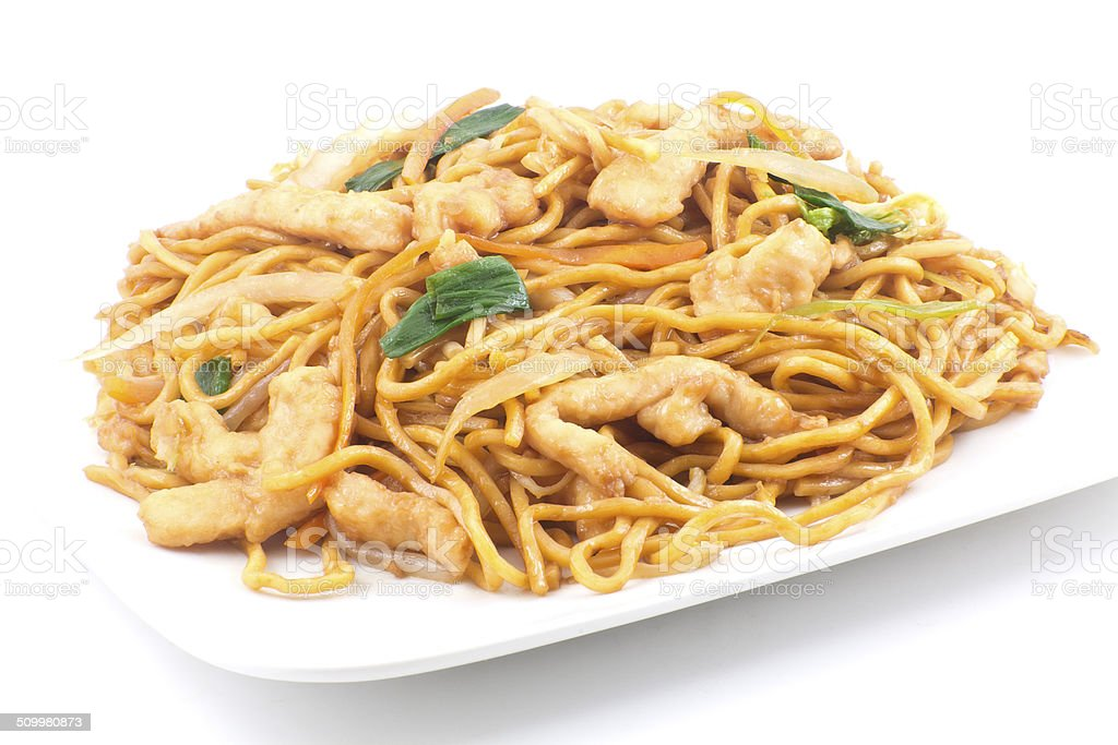 Chinese Chicken Lo Mein stock photo