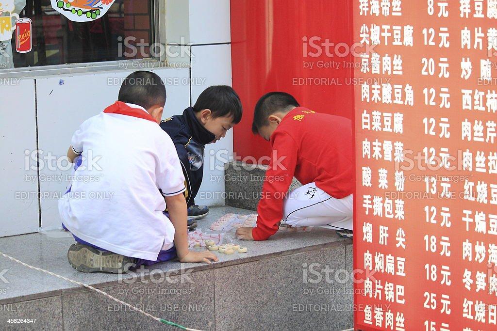 Chinese children Beijing royalty-free stock photo