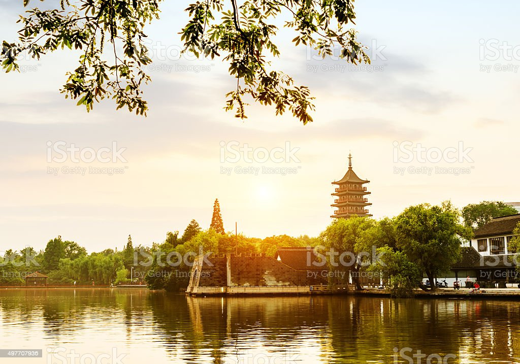 Chinese Classical Architecture: pagoda stock photo