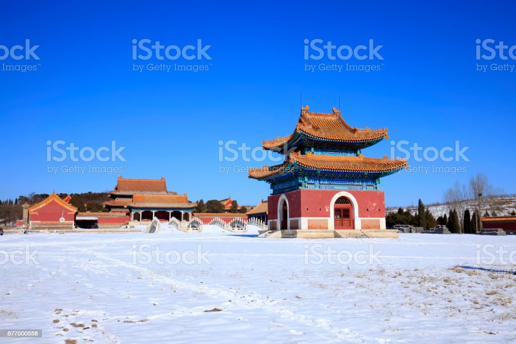 Chinese classical architecture stock photo
