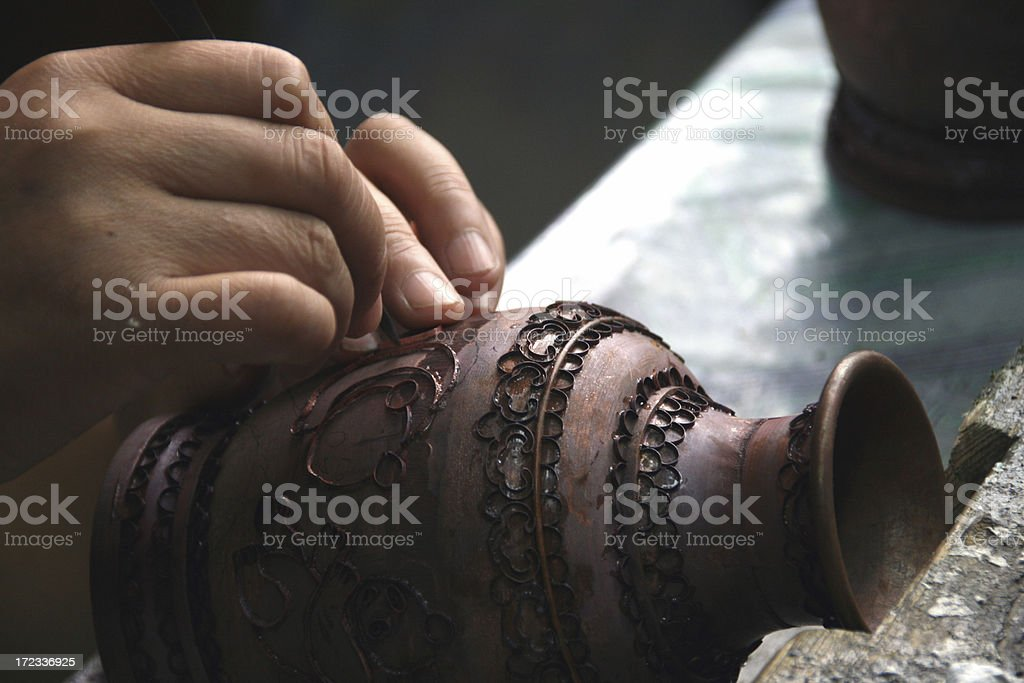 Chinese cloisonné stock photo