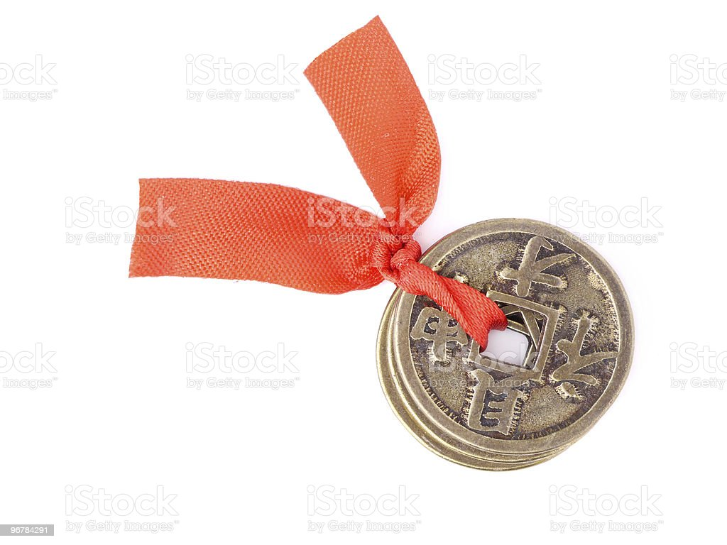 Chinese coins of luck royalty-free stock photo