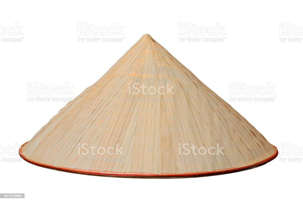 chinese conical isolated hat stock photo