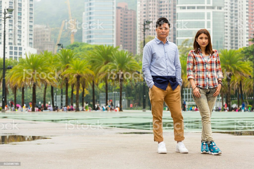 Chinese Couple in Hong Kong royalty-free stock photo