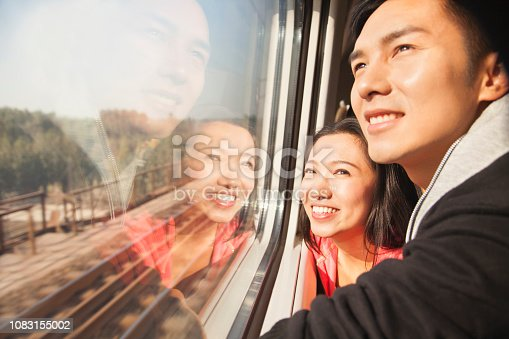 1083155024 istock photo Chinese couple looking out train window 1083155002