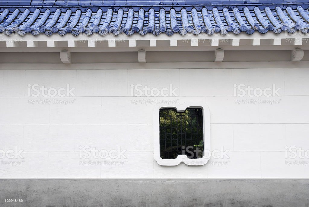 Chinese courtyard wall royalty-free stock photo