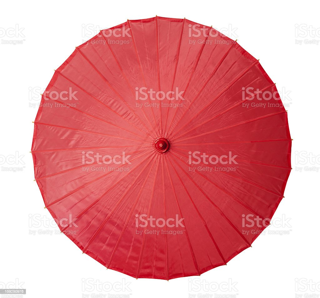 Chinese craft umbrella stock photo