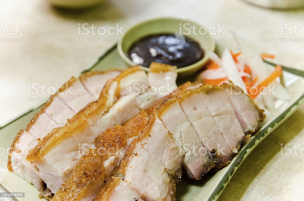 Chinese Crispy Pork stock photo