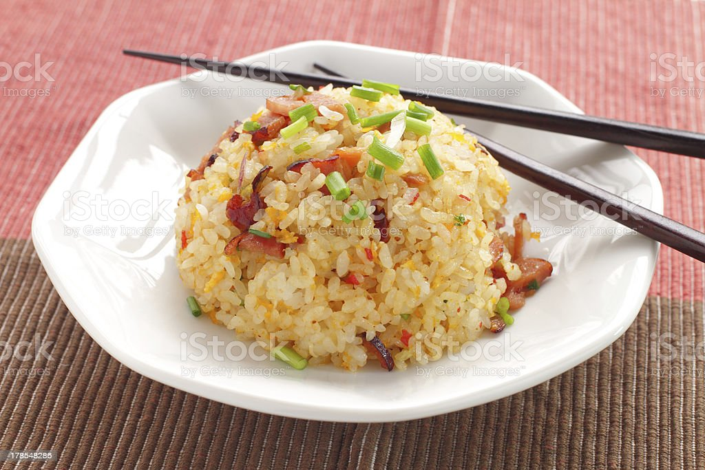 Chinese cuisine, fried rice stock photo