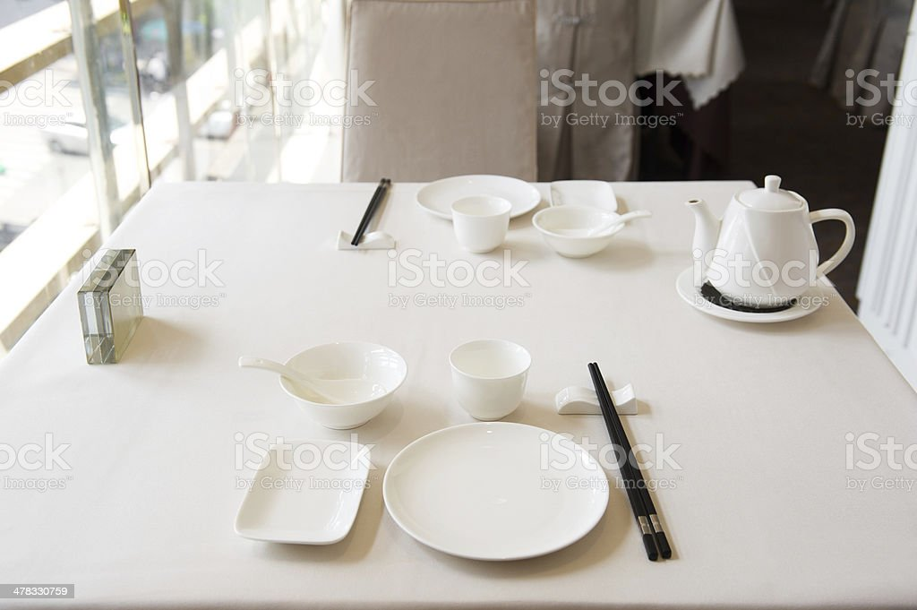 Chinese Cuisine Table Setting stock photo