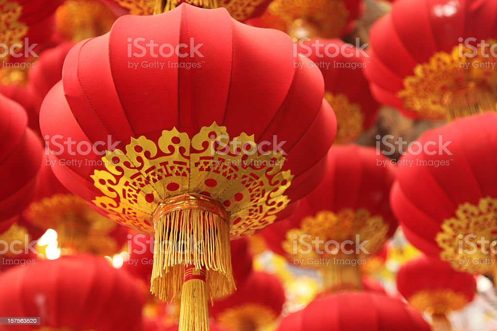 Chinese Culture: Festival Red Lanterns stock photo