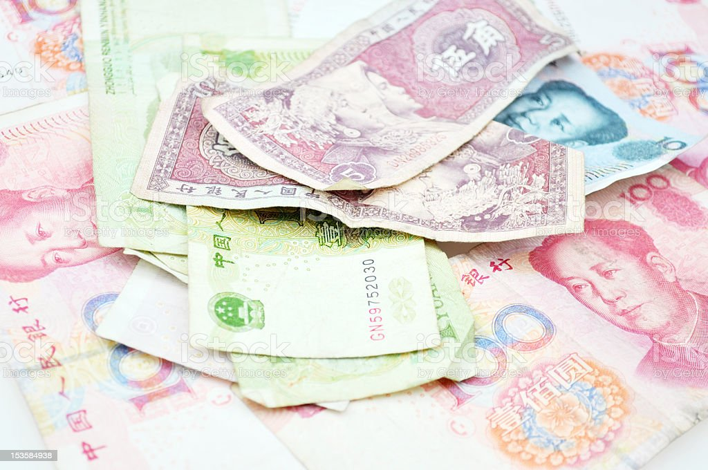 chinese currencies royalty-free stock photo