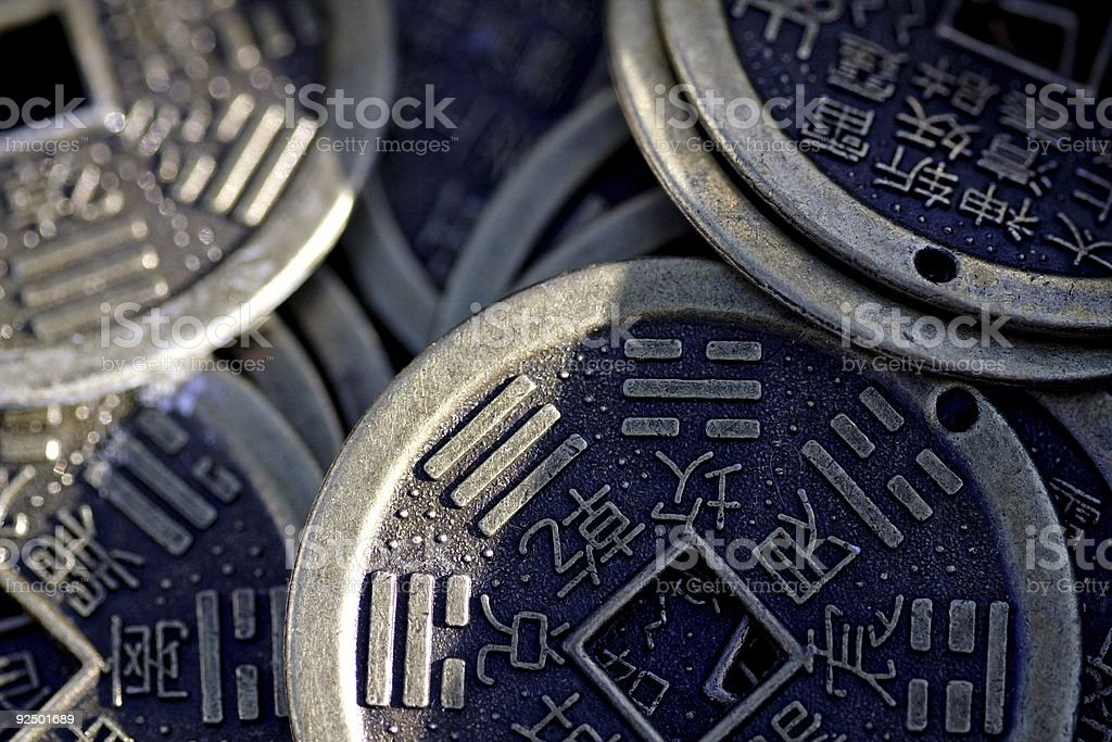 chinese currency coins royalty-free stock photo