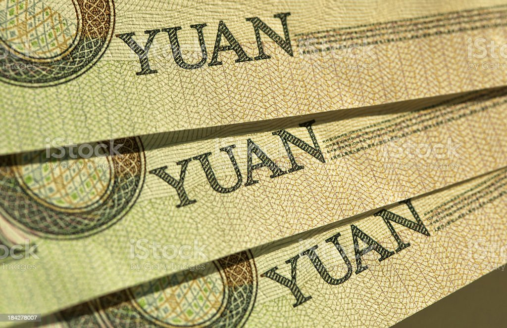 Chinese Currency Yuan royalty-free stock photo