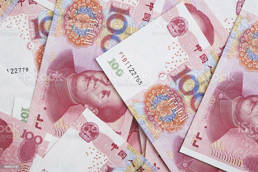 Chinese Currency-Money-100 Yuan stock photo