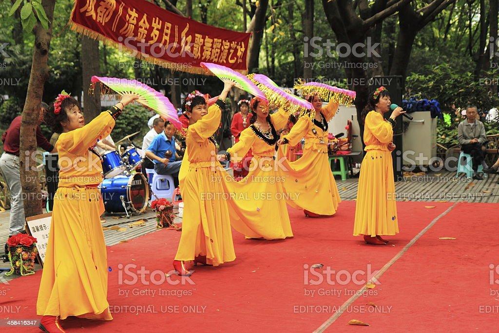 Chinese dance Chengdu royalty-free stock photo