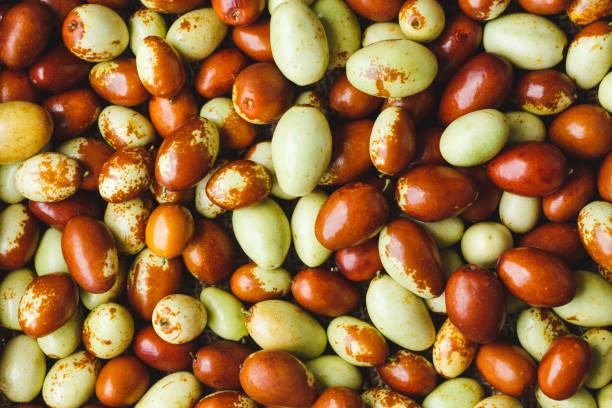 Chinese date fruits-Ziziphus jujuba fruits stock photo