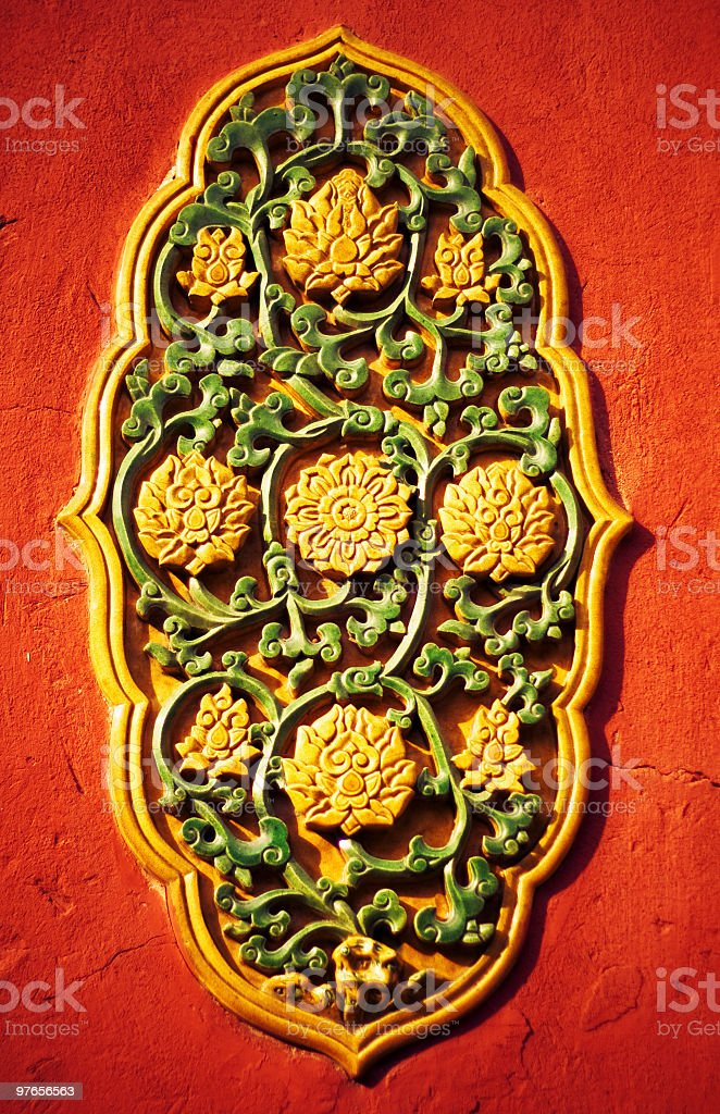 Chinese decorative tiles royalty-free stock photo