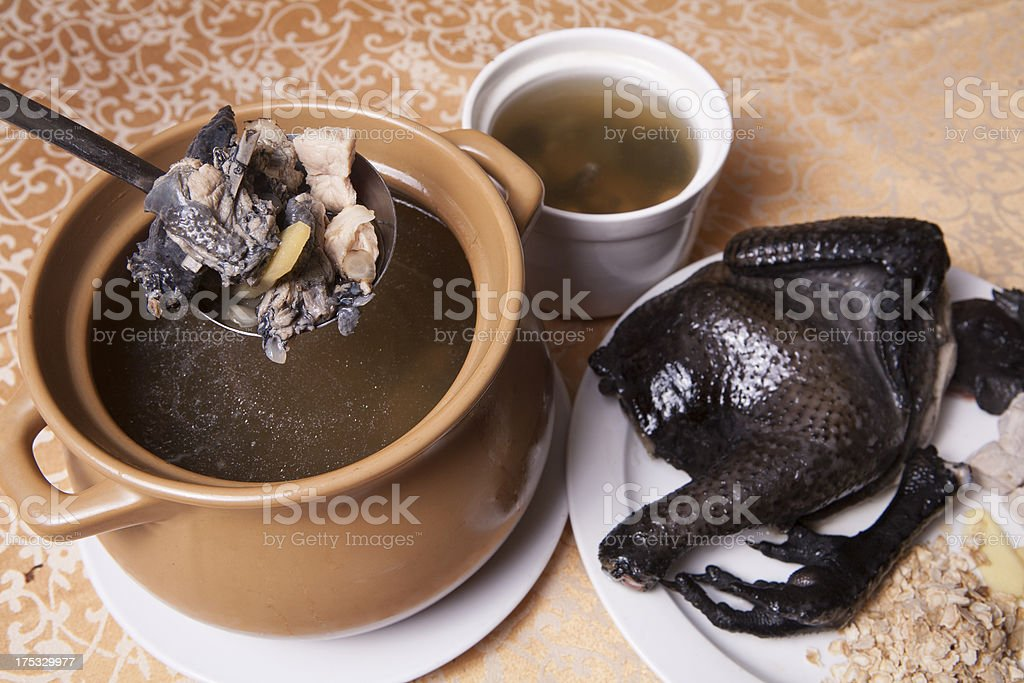 Chinese delicious food,chicken soup royalty-free stock photo