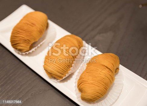 Chinese Dim Sum: Durian crisp