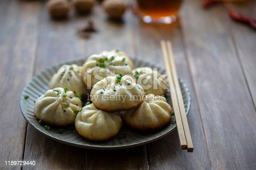 Chinese dim sum: fried Baozi