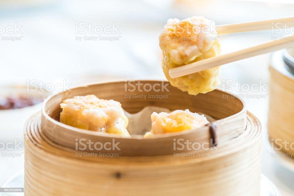 Chinese dim sum Shumai stock photo