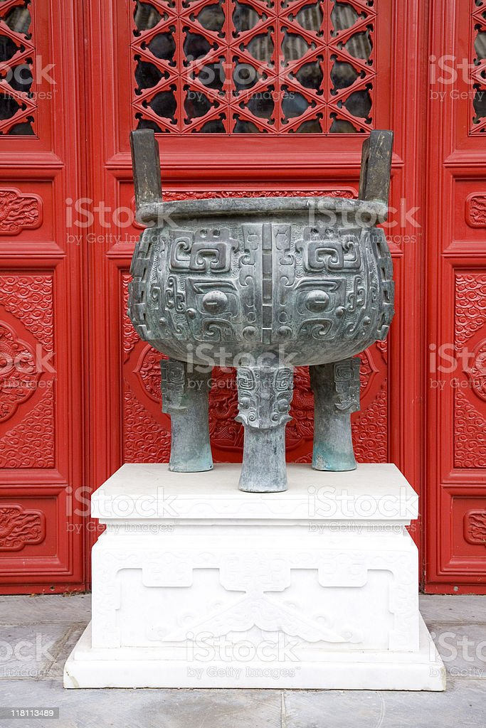 Chinese Ding 1 royalty-free stock photo