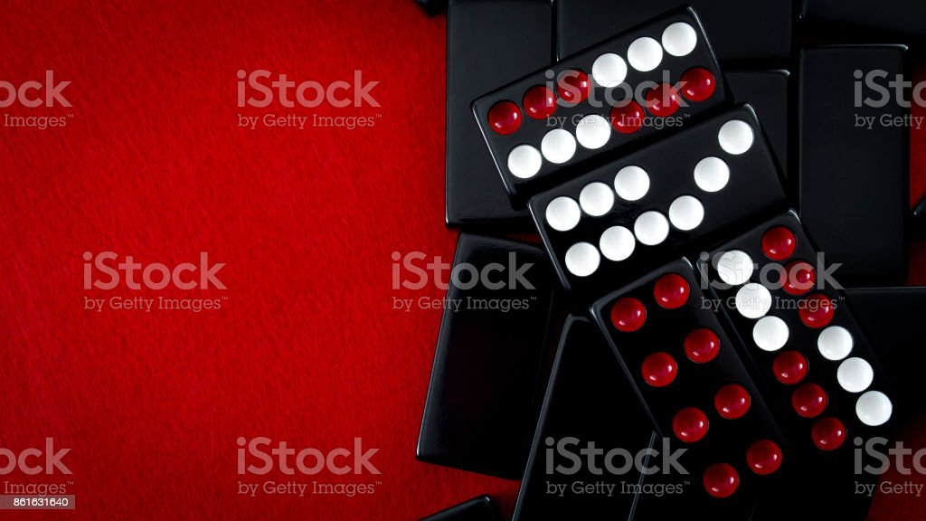 Chinese dominos and casino gambling concept with copyspace stock photo