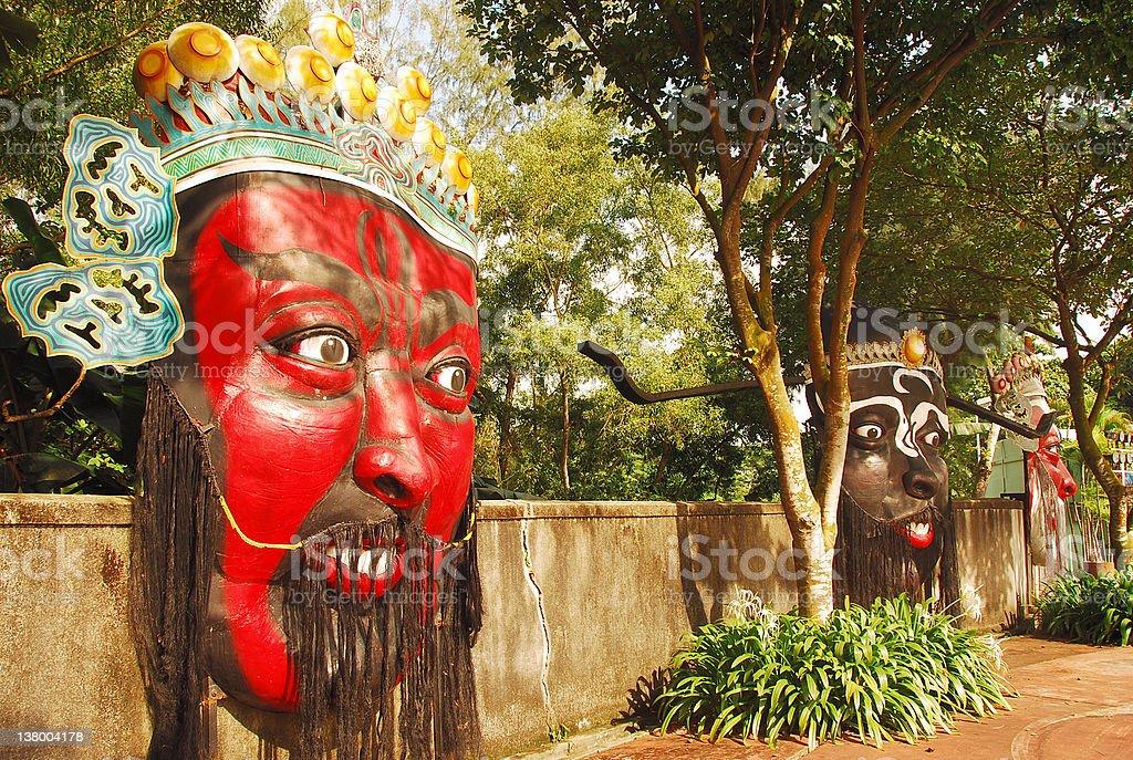 Chinese Door Gods royalty-free stock photo