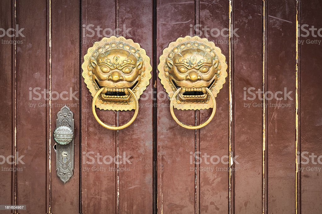 chinese door knocker royalty-free stock photo