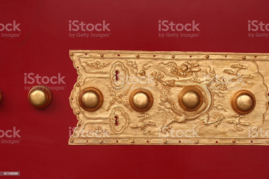 Chinese door ornament royalty-free stock photo