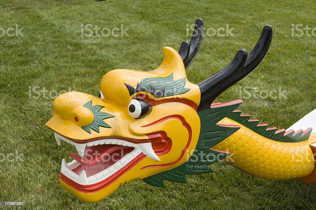 Chinese Dragon Boat stock photo