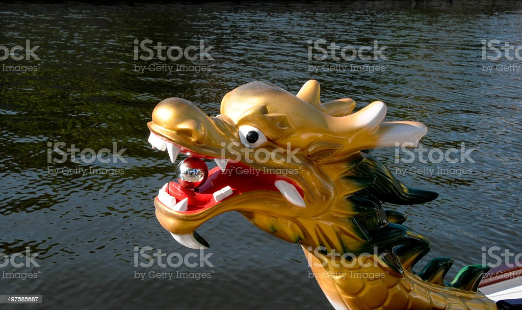 Chinese Dragon Boat Races - stock photo