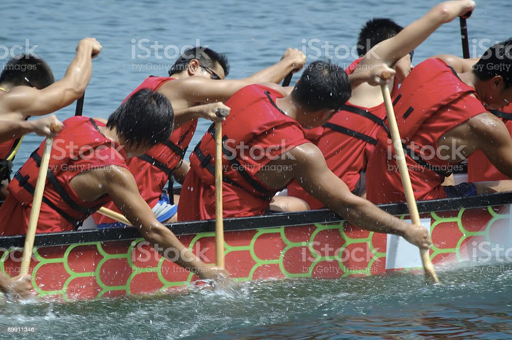 Chinese Dragon Boat Series royalty-free stock photo