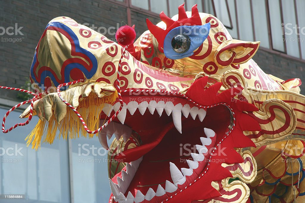 Chinese Dragon Close-up royalty-free stock photo