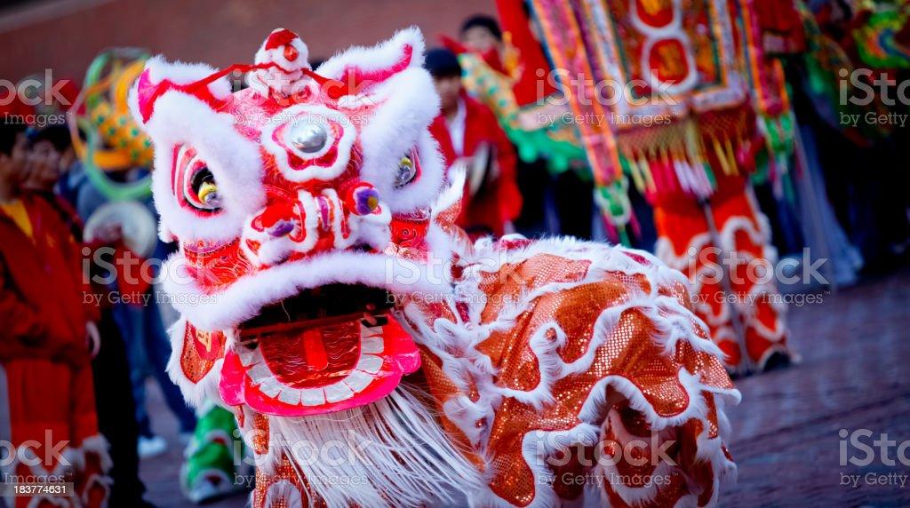 Chinese Dragon Dance stock photo