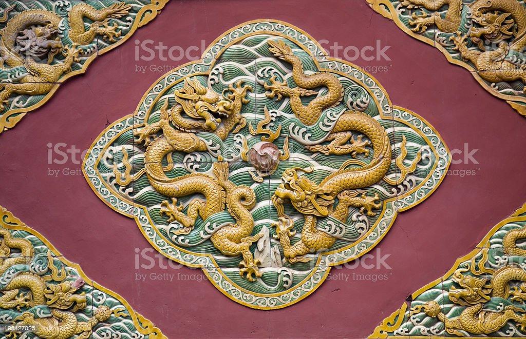 중국 용 데커레이션 royalty-free 스톡 사진