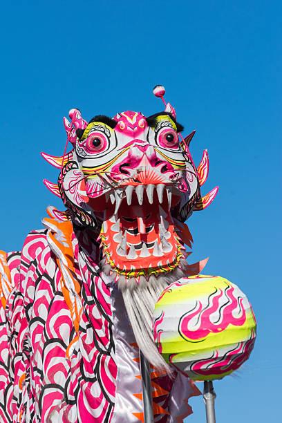 Dragon chinois dans le Golden Dragon Parede. - Photo
