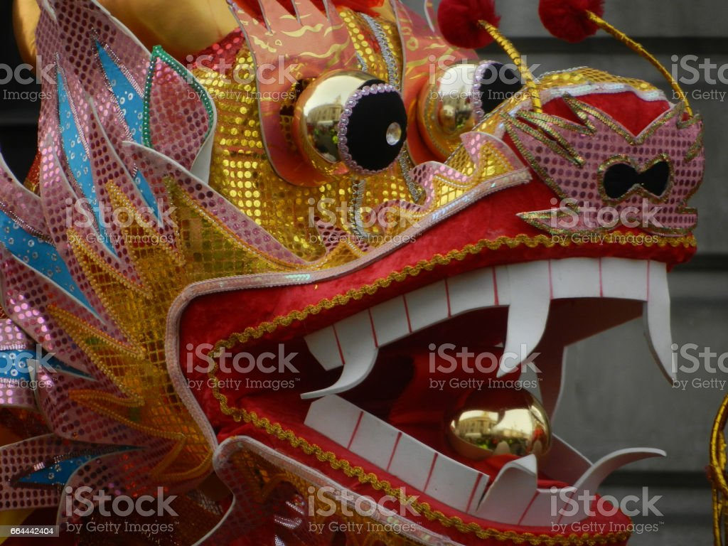 Chinese dragon head stock photo
