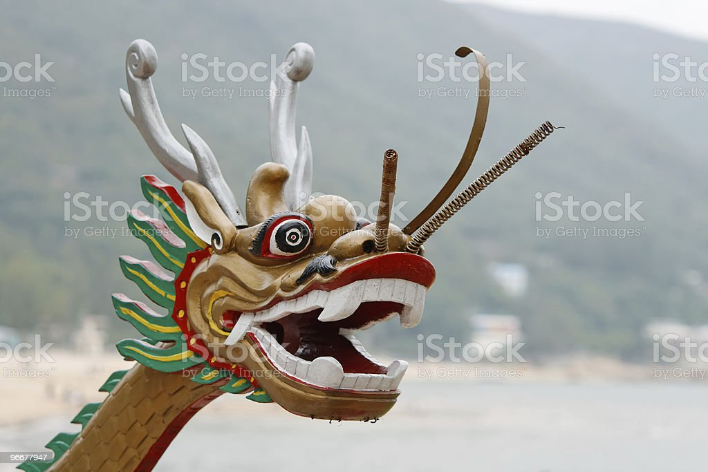 Chinese dragon head royalty-free stock photo