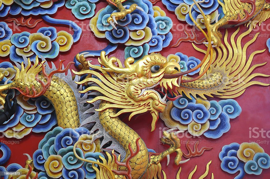 Chinese Dragon in Temple royalty-free stock photo