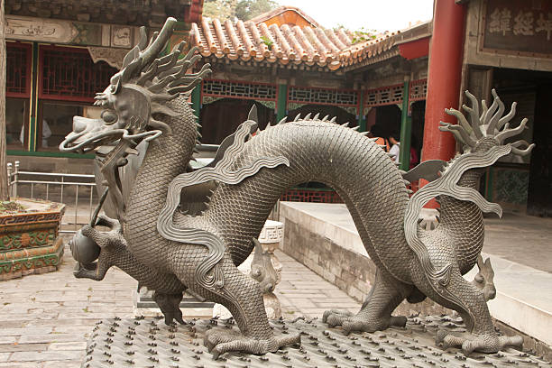 Chinesischer Drache (Naga), in die Verbotene Stadt, Peking, China – Foto