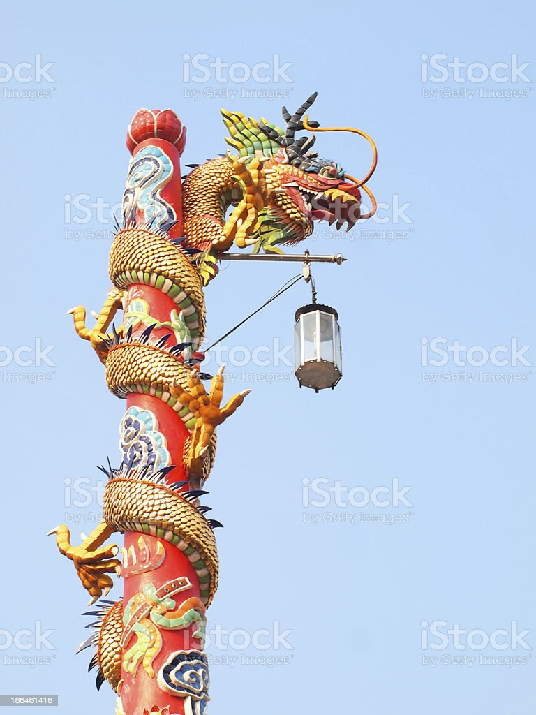 Chinese dragon in the sky royalty-free stock photo