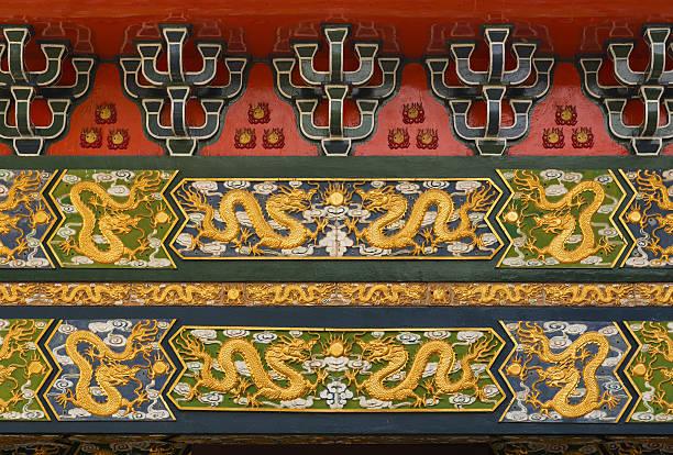 chinese dragon pattern - buddhist tattoos stock-fotos und bilder