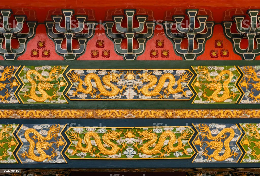 Chinesische Drachen Muster – Foto