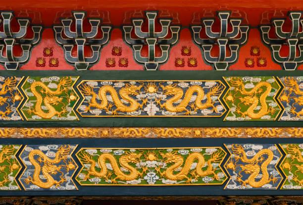 chinesische drachen muster - chinesische zeichen tattoos stock-fotos und bilder