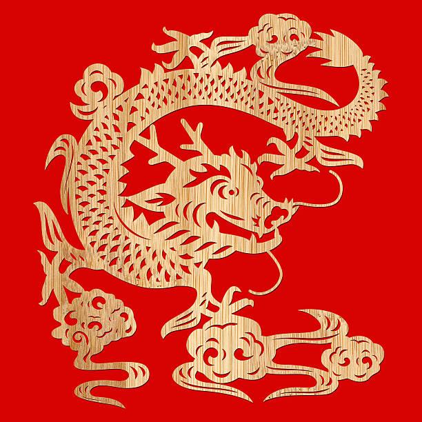 Dragon chinois (Tracé de détourage! - Photo
