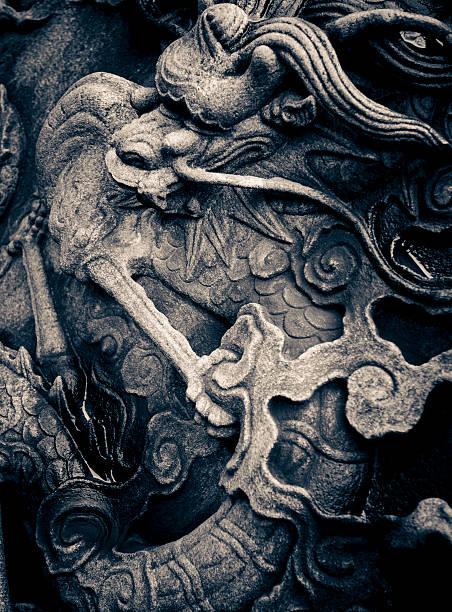 chinesischer drache - chinesische zeichen tattoos stock-fotos und bilder
