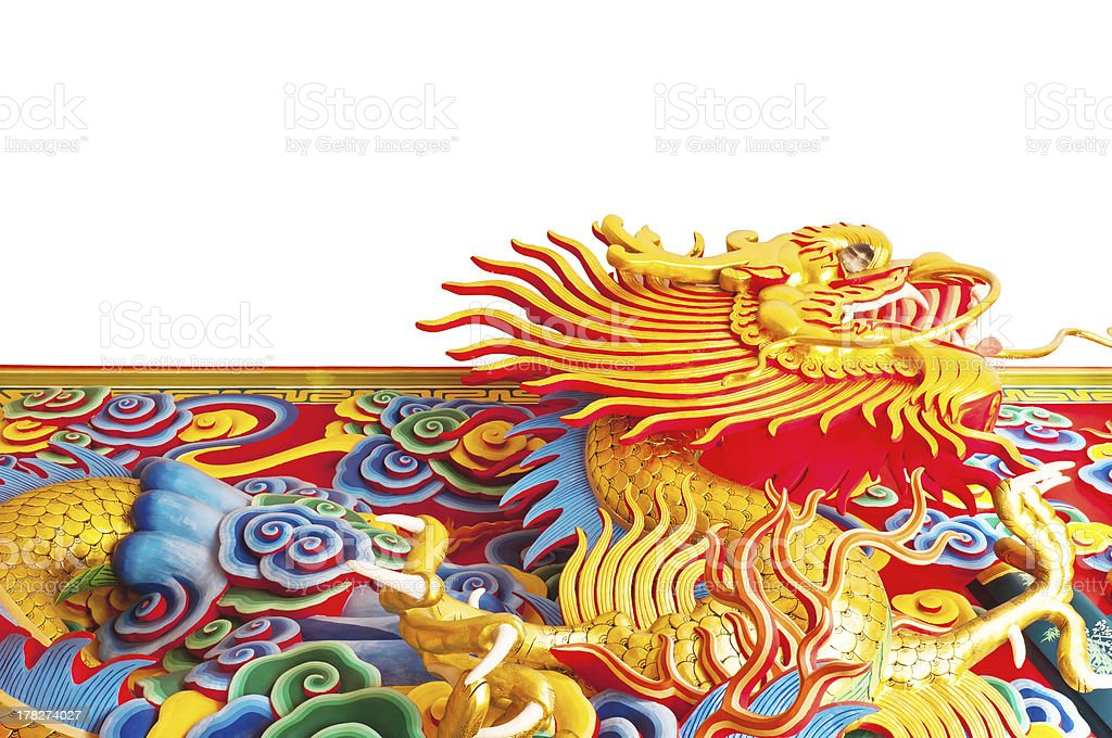Chinese dragon statue royalty-free stock photo
